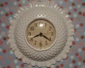 Is That Milk Glass Homco Kitchen Clock