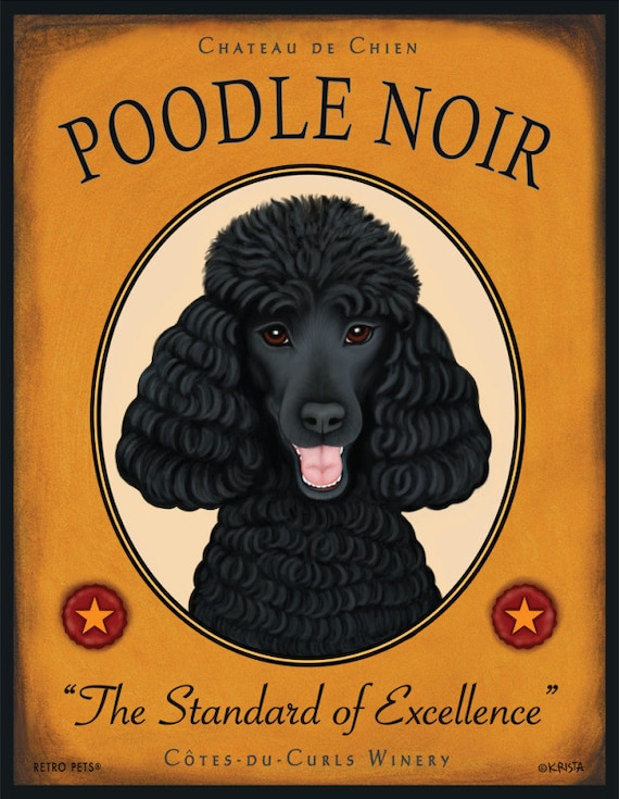 Black Poodle Art Poodle Noir The Standard Of By