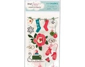 Dear Lizzy miniMarks Rub-ons - Sleigh Accents - by American Crafts