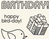 Clear Acrylic Stamps - Birthday - by Basic Grey