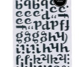 Bumble Glitter Letter Thickers - Black - by American Crafts