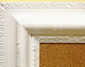Vintage Cottage Chic LARGE White Ornate Gesso Wood Cork Board By Funky Junk Company On Etsy