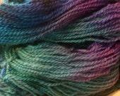 SALE- Hand Paint Sport Wool Yarn- Shirley- in Andromeda