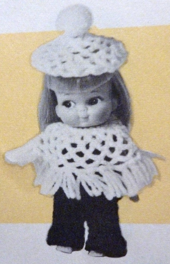 SALE- Vintage Doll Clothes Book- 11 Barbie sized knit and crochet patterns- Mary Maxim