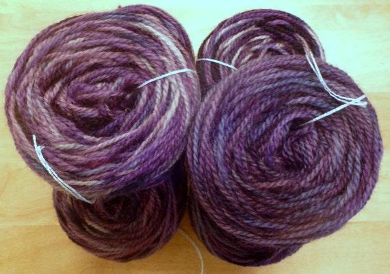 Hand Paint Sport Wool Yarn- Shirley- in Crossed Chevrons