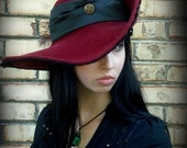 She Who Shall Not Be Named, custom designed, handblocked cavalier hat