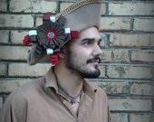 Captain Benjamin Hornigold, custom designed, handblocked, velour fur felt, tricorn, pirate hat