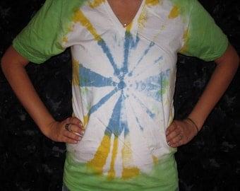Tie Dye Organic V-Neck S Mandala
