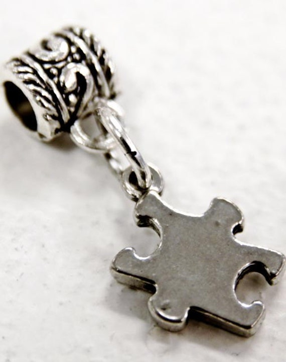 Autism Awareness Charm Fits Pandora Style Bracelet