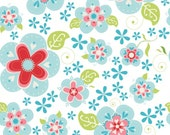 Sugar and Spice Blue Floral Fabric by Riley Blake Designs