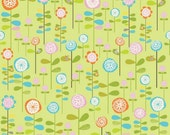 Green Floral Fabric from Happier by Riley Blake Designs by the Half Yard