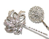 Dream - Wedding Hair Pins, Bridal Accessories, Silver, Rhinestones, Crystal, Vintage Style, Hair Pins