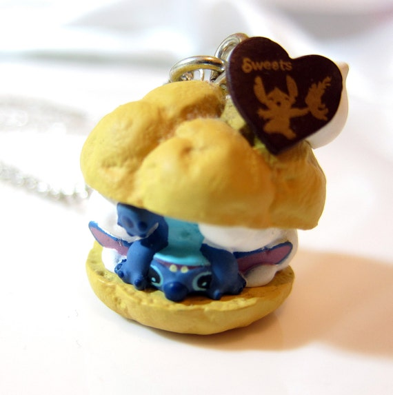 Stitch Ice Cream Puff Necklace - Cartoon Collection