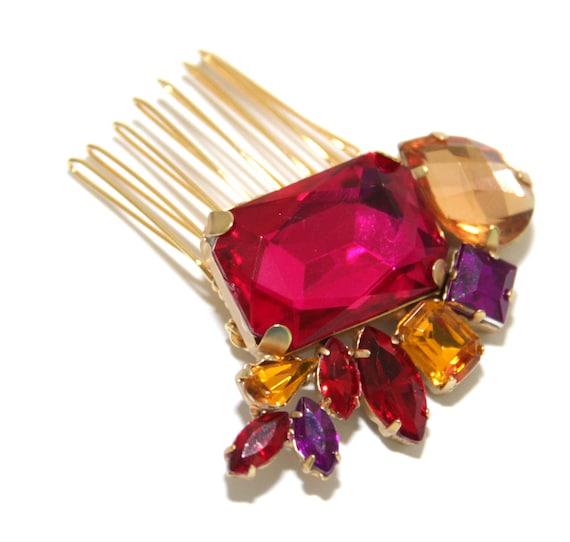 BRIDAL - Wedding Hair Comb, Accessories, White, Rhinestones, Crystal, Swarovski, Czech crystal