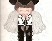Praying Cowboy Angel