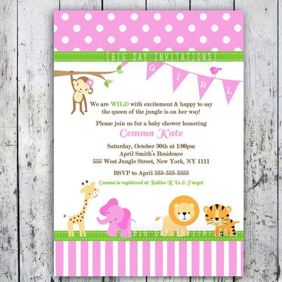twin boys safari baby shower invitations jungle animal theme, Baby shower invitation