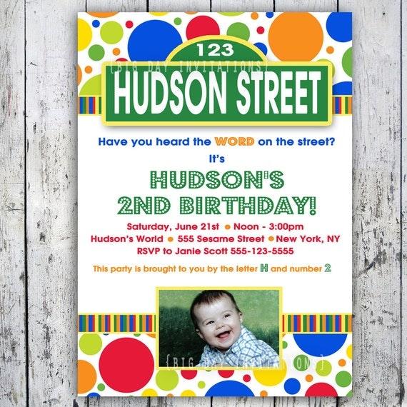 items similar to sesame street inspired invitation 1st