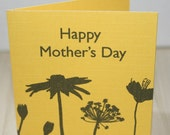 Modern Floral Mothers Day Card - Yellow
