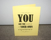 30 Days of Health - Food & Exercise Journal -  Yellow - You are the Author of Your own experience