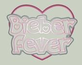 Bieber Fever Embroidery Applique Design