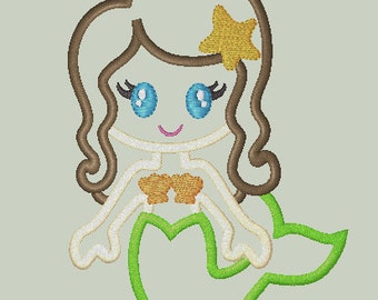 Sweet Mermaid Applique Design