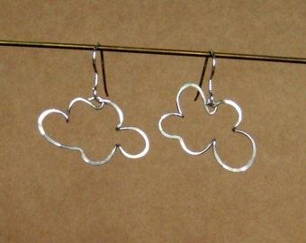 cloud earring - Sterling Silver