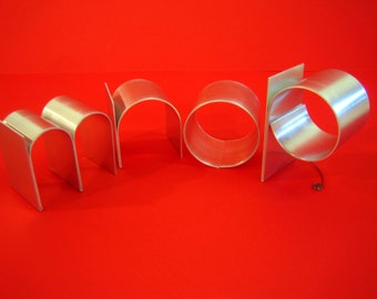 Metal letters/Personalized/ lowercase initials/ freestanding signage