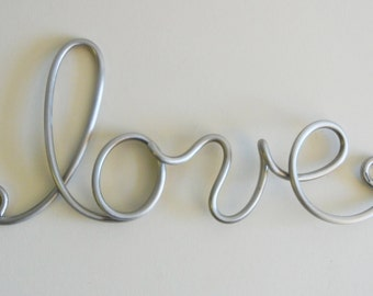 love aluminum metal sign