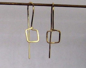 Square Earring - Gold Vermeil