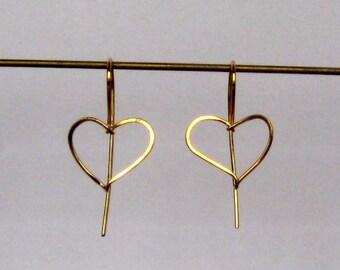 Heart Earring - Gold Vermeil