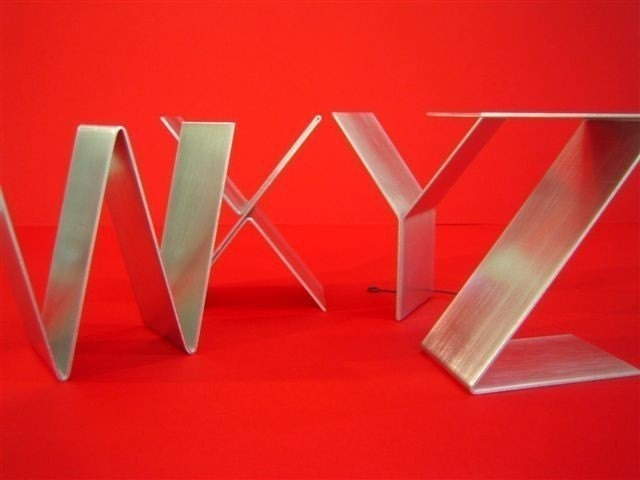 Standing Metal Letters Awesome Metal Letters Freestandinginitialsalphabet Az Decorating Inspiration