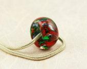 Fern Flower - Lampwork Glass Bead to fit Pandora/Troll/Chamilia/Biagi - TreasureHouse