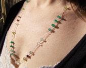 Mixed gemstone necklace, ...