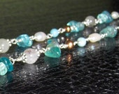 Apatite Necklace, Pearl N...