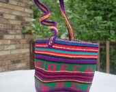 Exquisite from Equador .woven purse .friendship bracelet weave sac .Vibrant carryall