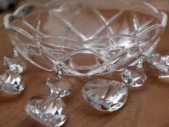 5 sets of crystal bobeche with pendants for candle holder or chadnelier