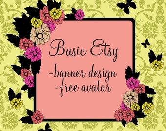Basic Etsy Package Banner and Avatar