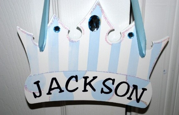 Prince Crown Wall Decoration : Personalized prince crown wall decor baby boy nursery