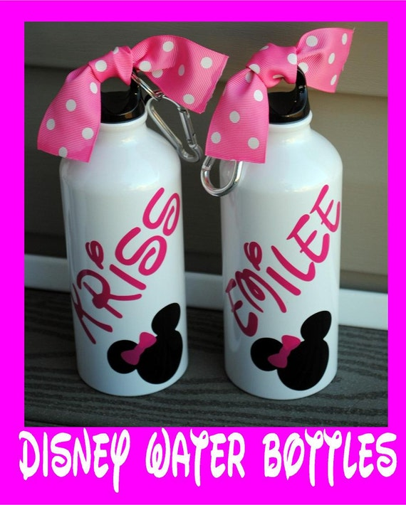 Mickey Or Minnie Personalized 20oz Aluminum Bottle