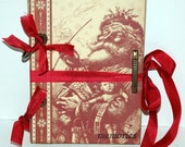 SALE  Old World Santa Christmas Journal - December Daily - Scrapbook - Smash Book