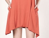 R E A D Y to ship Coral Bell A-line open-back cotton Muse dress with inside pockets