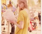 Sunny Yellow shortsleeved LeMuse V openback cotton dress