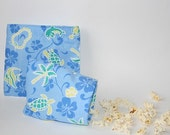 Reusable Sandwich and Snack Bag Set - The Tropics - Cotton Lunch Bags - Eco Friendly Food Storage