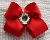 Big red bow with gem