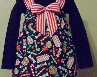 Little girl , Christmas candy dress