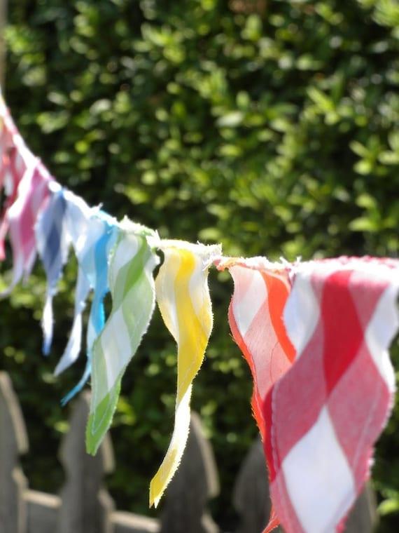 LISTING FOR CINDY Rainbow Gingham Bunting/Flag Garland