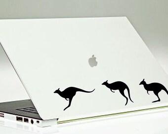 Kangaroo Laptop Decal / Mac Laptop Decal