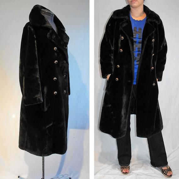 Plush Borgazia Faux Fur Coat from Saks Fifth Avenue sz. L \/ XL