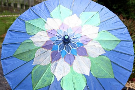 Blue Lotus Flower Parasol