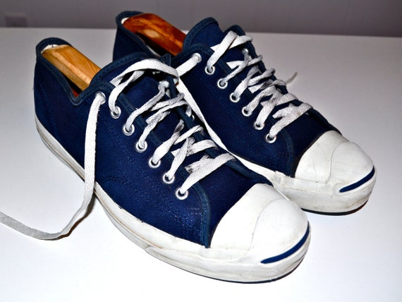 Converse 1980s Jack Purcell Navy Blue Nautical Style Sneakers